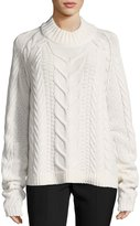 Robert Rodriguez Fisherman Cable-Knit Wool-Cashmere Sweater