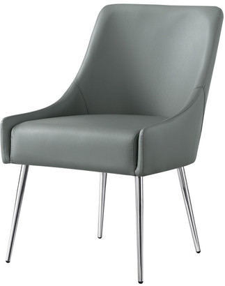 INSPIRED HOME Set Of 2 Mazolini Leather Dining Chair