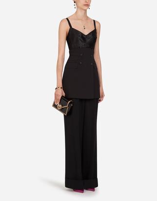 Dolce & Gabbana Short Woolen Fabric Dress