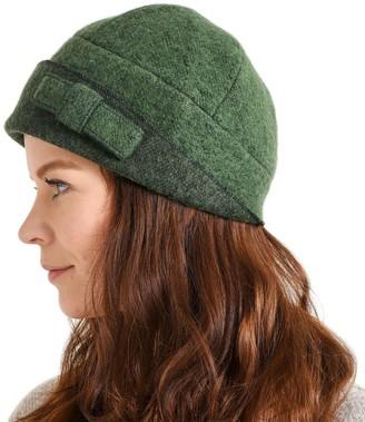 Casualbox Womens Beanie Hat Winter Soft Retro Design Elegant Lady Ladies Ribbon Green