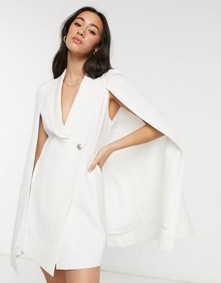 Forever U tailorerd cape in white