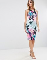 Jessica Wright Floral Midi Dress With Harness Straps