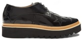 STELLA MCCARTNEY Star-embroidered faux-leather platform derby shoes