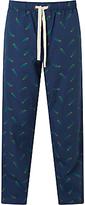 John Lewis Parrot Print Lounge Pants, Blue