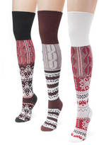 Muk Luks 3-Pack Lodge Over the Knee Socks