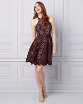 Le Château Laser Cut Knit Halter Dress