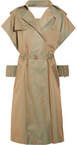 Facetasm Cutout Iridescent Cotton-blend Trench Coat - Beige