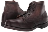 Frye Prison Boot (Dark Brown Stonewash Pull-Up) Men's Lace-up Boots