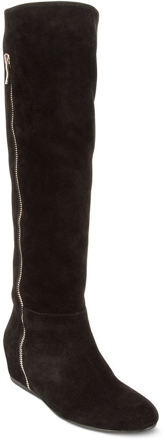 BCBGeneration Shoes, Isanna Wide Calf Wedge Boots