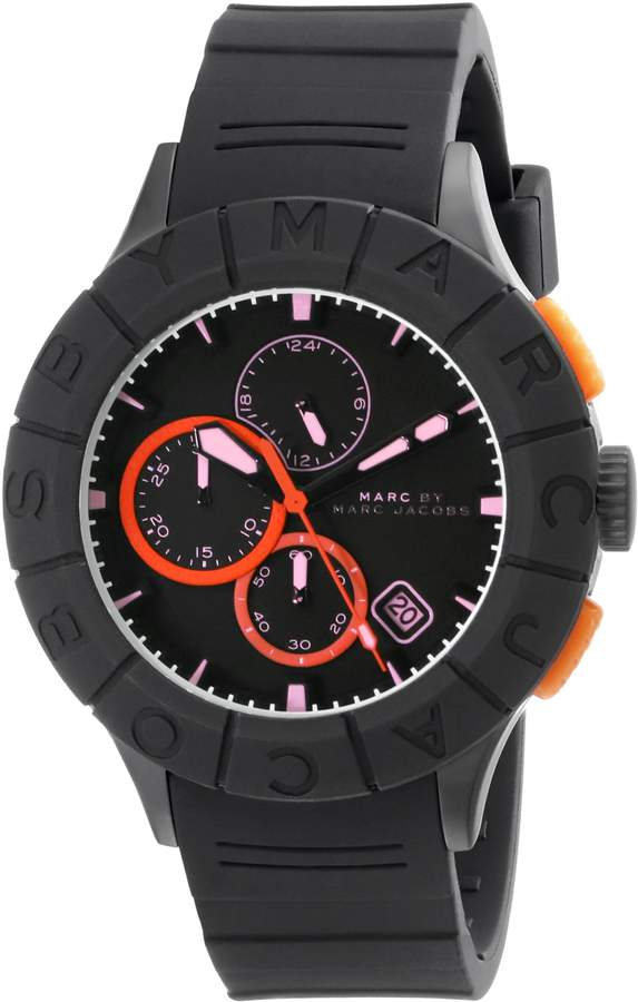 Marc by Marc Jacobs Men's MBM5546 Black Plastic Watch with Silicone Band