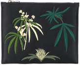 Creatures of the Wind leaf embroidered clutch