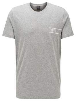 Relaxed-fit cotton underwear T-shirt with chest logo