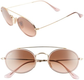 Ray-Ban Elite 52mm Gradient Oval Sunglasses