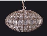 Rovigo Crystal 1 Light Oval Pendant - Crystal