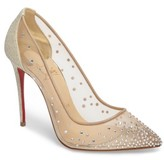 Christian Louboutin Women's Follies Strass Pump