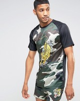 Jaded London Camo Souvenir T-Shirt