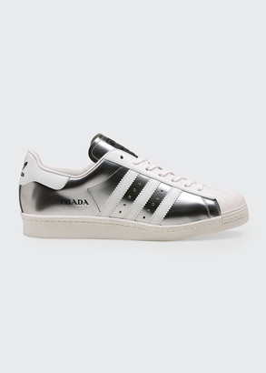 Adidas X Prada x Prada Superstar Metallic Bicolor Classic Sneakers