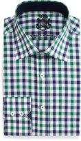 English Laundry Gingham Check Dress Shirt, Navy/Green