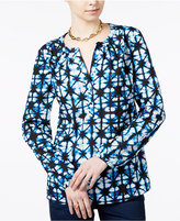 Tommy Hilfiger Printed Blouse, Only at Macy's
