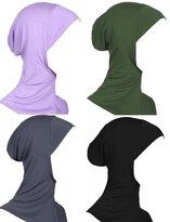 GladThink Womens Muslim Mini Hijab Caps Islamic Scarf 4 Pieces Set No.10
