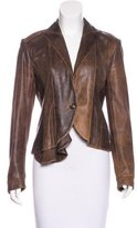 Yigal Azrouel Leather Structured Jacket