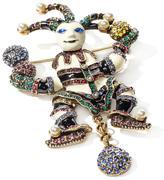 "Heidi Daus Jeweled Jester"" Enamel and Crystal Pin"