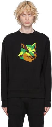 MAISON KITSUNÉ Black Neon Fox Sweatshirt