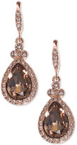 Givenchy Teardrop Pavé Crystal Drop Earrings
