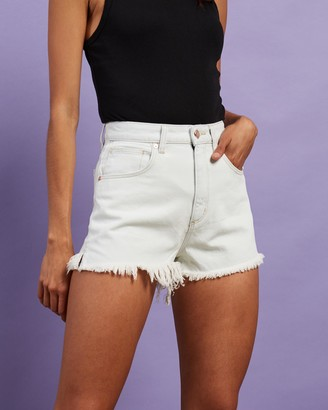 Abrand - Women's White Denim - A High Relaxed Shorts - Size 26 at The Iconic