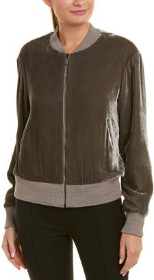 St. John Silk-Blend Jacket