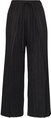 Pleats Please Issey Miyake Wide-Leg Plisse Trousers