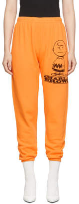 Marc Jacobs Orange Peanuts Edition The Gym Charlie Lounge Pants