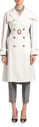 Alexander McQueen Check-Back Gabardine Trench Coat