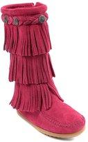 Minnetonka Girl's 3-Layer Fringe Boot 3 M