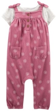 Carter's Baby Girl Tee and Overall Set, 2 Pieces
