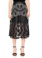 Sandro Hajar Embroidered-Lace Midi Skirt