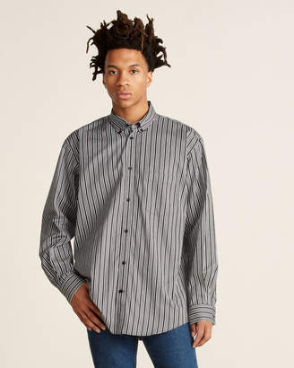 Balenciaga Black & White Vertical Stripe Long Sleeve Shirt
