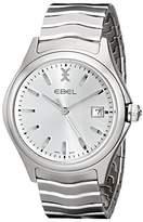 Ebel Men's 1216200 Wave Analog Display Swiss Quartz Silver Watch