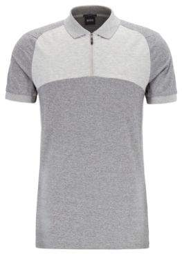 BOSS Slim-fit colour-block polo shirt with S.Cafe
