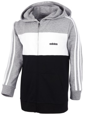 adidas Little Boys Cotton French Terry Colorblocked Hoodie