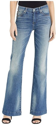 7 For All Mankind Luxe Vintage Dojo in Distressed Authentic Light (Distressed Authentic Light) Women's Jeans