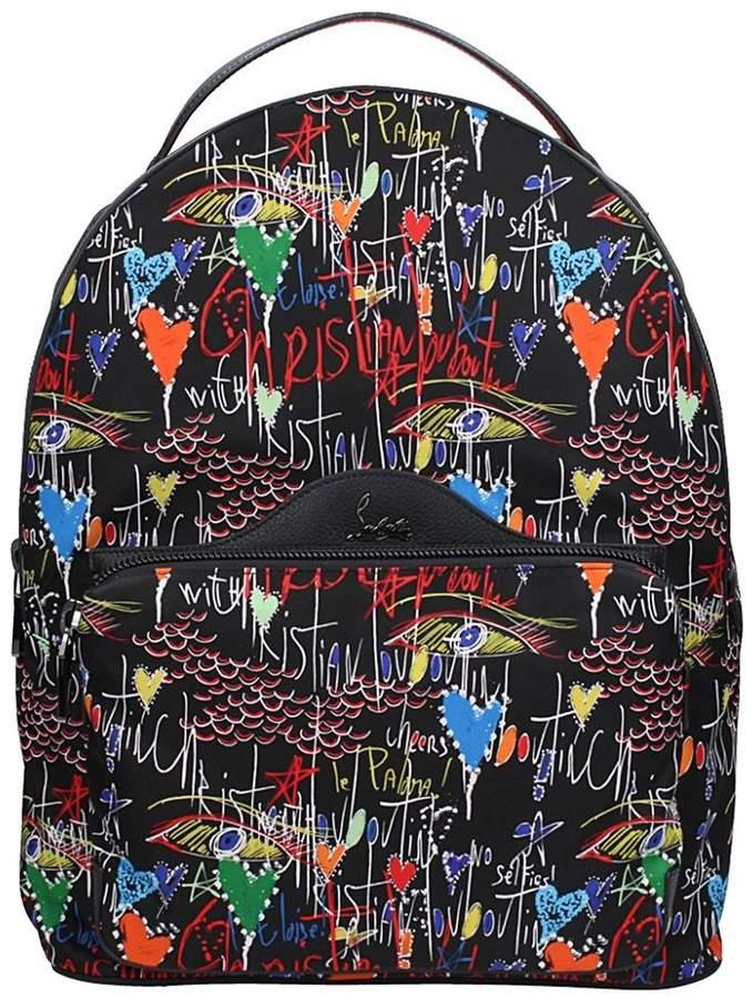 Christian Louboutin Black Nylon Backpack