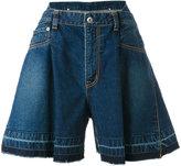 Sacai flared denim shorts - women - Cotton - 2