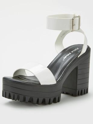 Public Desire Avenue Wedge Sandal - White