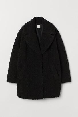 H&M Short Faux Shearling Coat