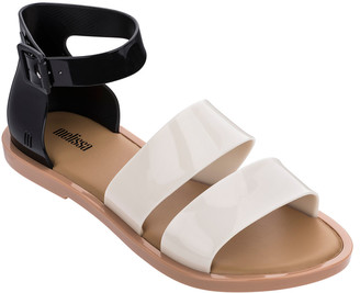 Melissa Shoes Model Two Band Ankle-Strap Flat Sandals