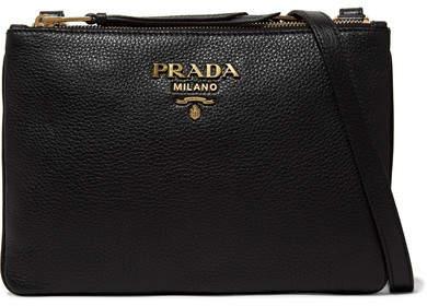 Prada Textured-leather Shoulder Bag - Black