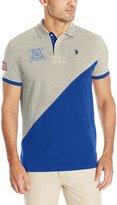 U.S. Polo Assn. Men's Slim Fit Color Block Pique Shirt