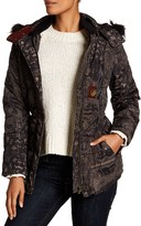 Desigual Faux Fur Hooded Bubble Jacket