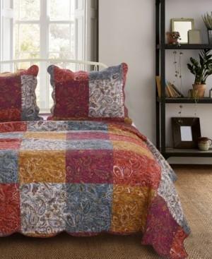 Barefoot Bungalow Paisley Slumber Quilt Set, 3-Piece Full/Queen Bedding